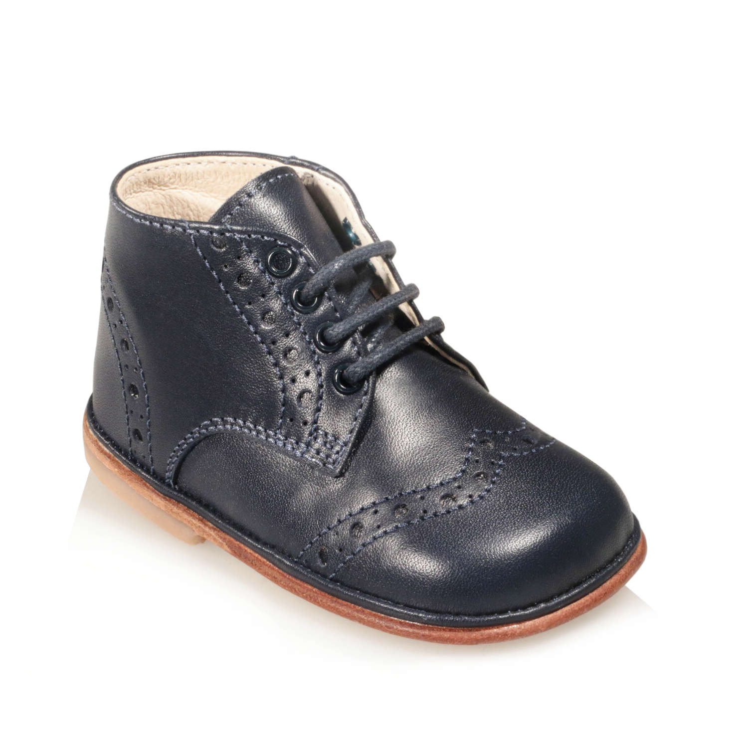 5e9339be00bba Scarpine da bimbo Derby Brogue - 100% Artigianali e Made in Italy