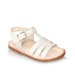 Sandalo da bambina color panna