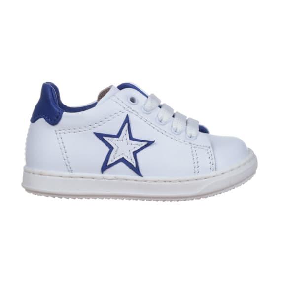 Sneakers da bambino con stellina blu Royal e bianca