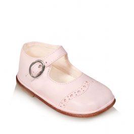 Ballerine Brogue rosa con cinturino