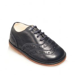 Scarpine Oxford Brogue da bimbo o bimba colore blu