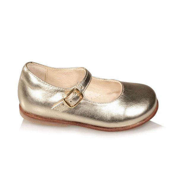 Mary Jane da bambina color oro lucido