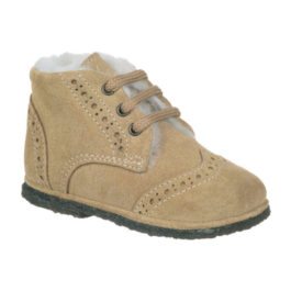 Scarpine Derby Brogue Beige Scamosciate
