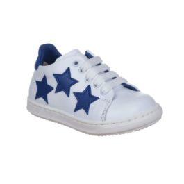 Sneakers da bambino con tre stelline blu royal