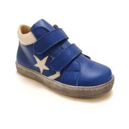 Scarpe bambino blu con due strappi
