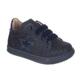 Sneakers da bambina con microglitter