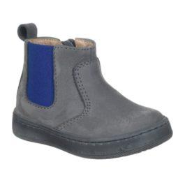 Stivaletto da bambino color grigio con elastico laterale color blu