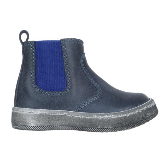 Stivaletto per bambino colore blu con elastico laterale di colore blu