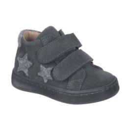 Scarpa bambini con due strappi color grigio