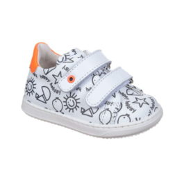 Sneakers da bambino e bambina da colorare - Inserti arancione fluo