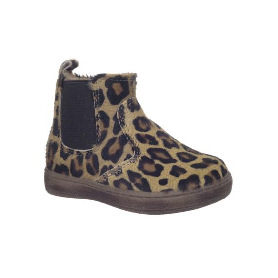 Stivaletto da bambina in cavallino leopardato