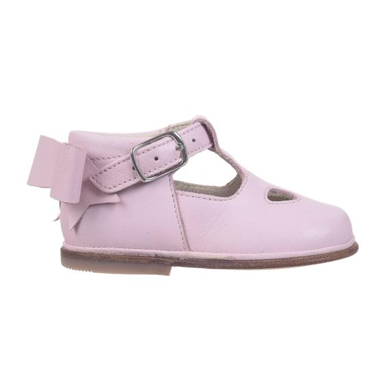 scarpe da bambina con occhi e fiocco - laterale