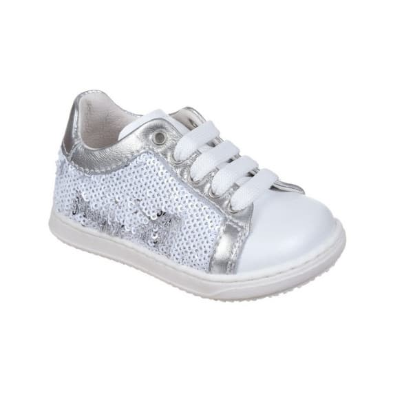 Sneakers da bambina con paillettes scriventi