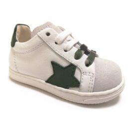 Sneaker da bambino verdone e bianche